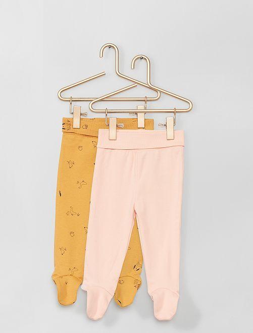 Lot de 2 leggings avec pieds éco-conçu                                                                                         orange