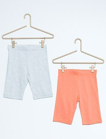 Lot de 2 leggings courts en coton