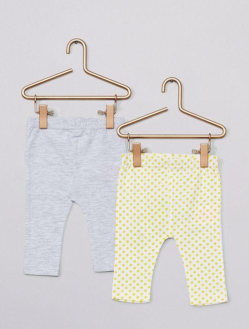 Lot de 2 leggings                                         jaune/gris