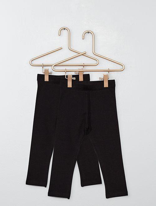 Lot de 2 leggings unis                                                                 noir
