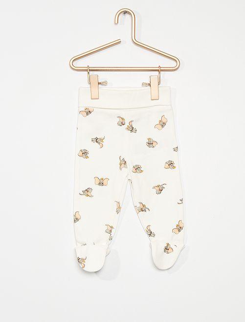 Lot de 2 leggings 'Winnie l'Ourson' éco-conçus                                                                 blanc/rose