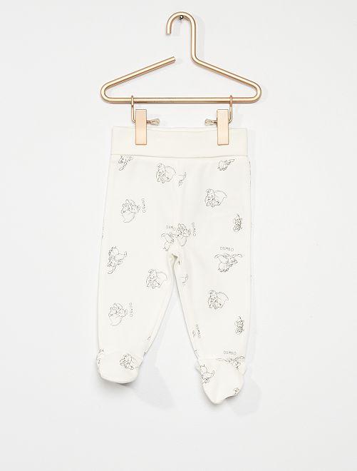 Lot de 2 leggings 'Winnie l'Ourson' éco-conçus                                                                 gris/blanc