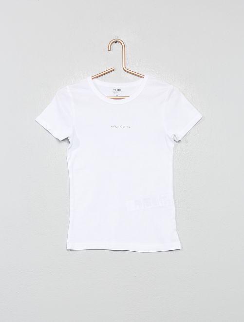 Lot de 2 maillots de corps 'éco-conception'                                         blanc/gris chiné