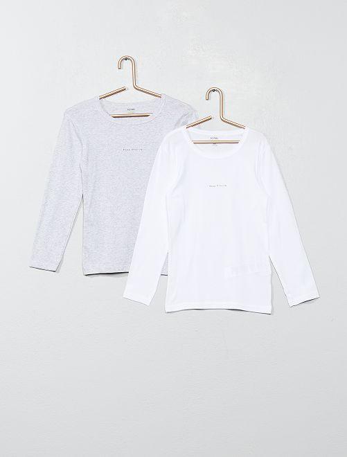 Lot de 2 maillots de corps 'éco-conception'                                         gris/blanc