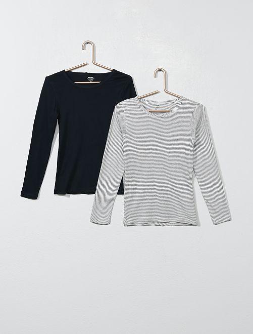 Lot de 2 maillots de corps 'éco-conception'                                         noir/gris