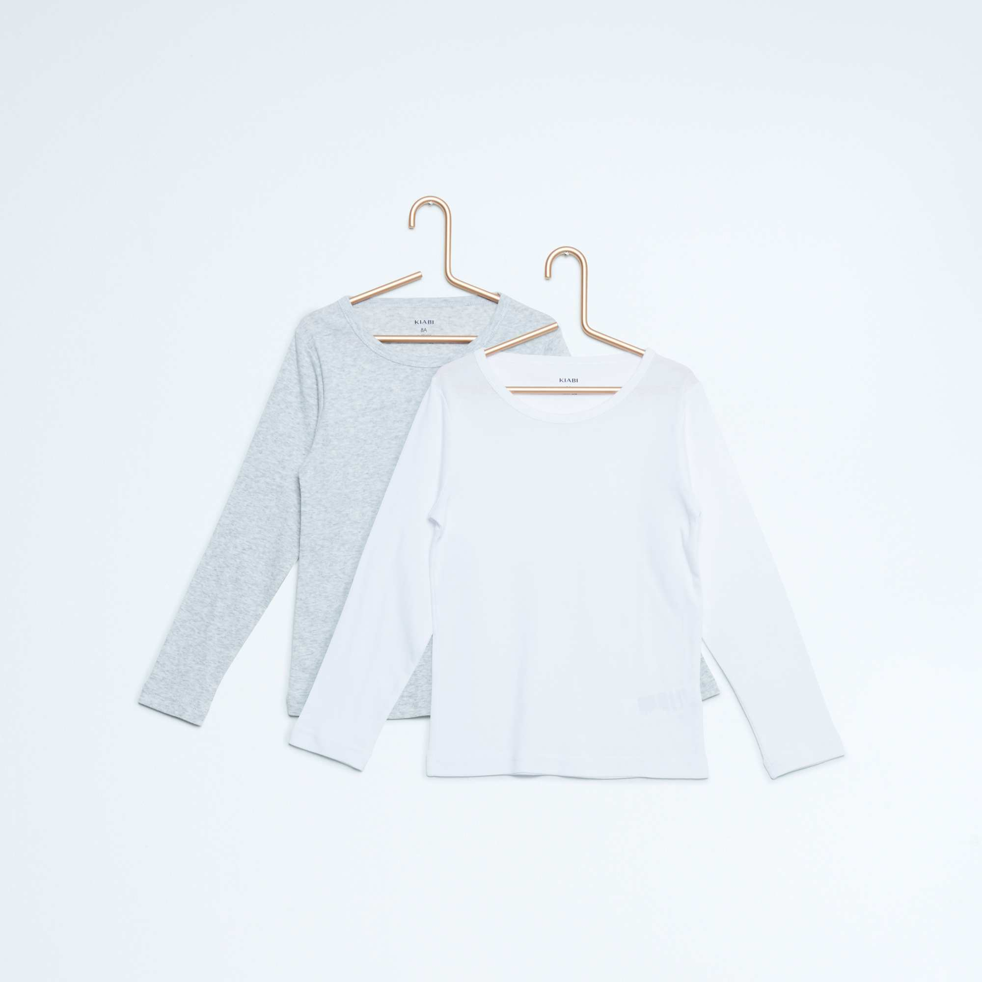 lot de 2 maillots de corps en coton gar on kiabi 5 60. Black Bedroom Furniture Sets. Home Design Ideas