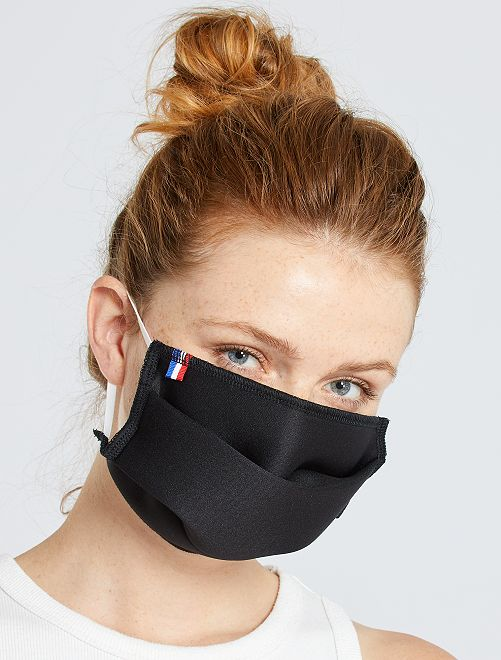 Lot de 2 masques barrière adulte catégorie 2                             noir