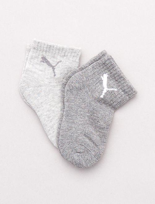 Lot de 2 paires de chaussettes hautes 'Puma'                                         gris / gris foncé