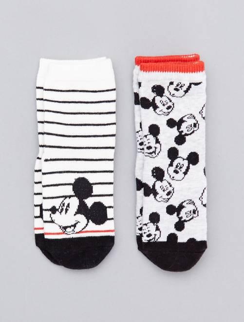 Lot de 2 paires de chaussettes 'Mickey'                             blanc/gris