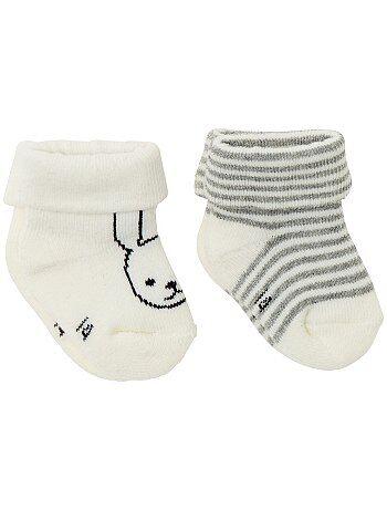 Lot de 2 paires de chaussettes motif