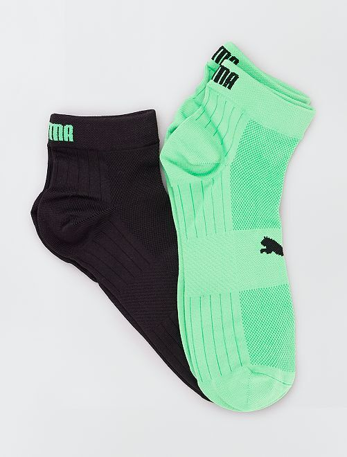 Lot de 2 paires de chaussettes 'Puma Train Light'                             VERT