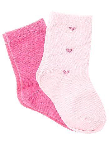 11ac1236c56 Fille 3-12 ans - Lot de 2 paires de chaussettes - Kiabi