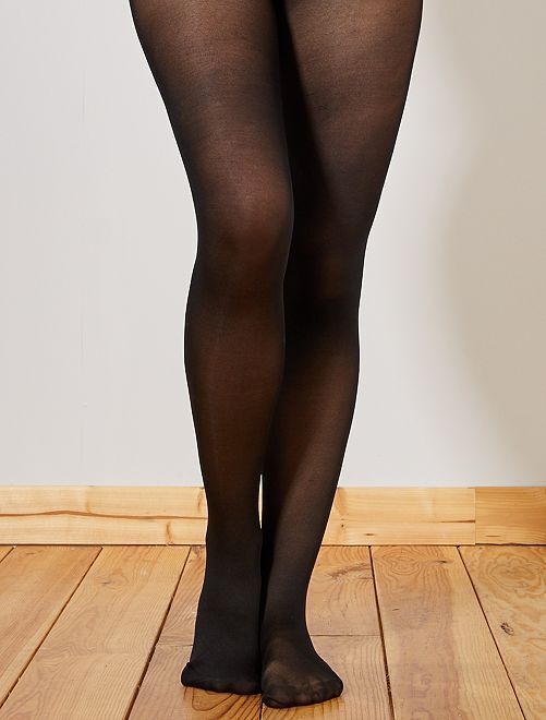 Lot de 2 paires de collants 40D                             noir