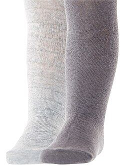 Chaussettes, collants - Lot de 2 paires de collants chauds - Kiabi