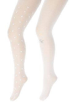 Fille 3-12 ans Lot de 2 paires de collants en voile