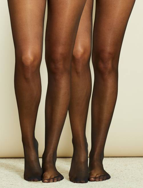 Lot de 2 paires de collants voile 20D Lingerie du s au xxl - noir ... 5196a09b904