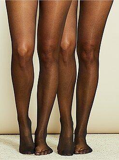 Collants, chaussettes - Lot de 2 paires de collants voile 20D - Kiabi