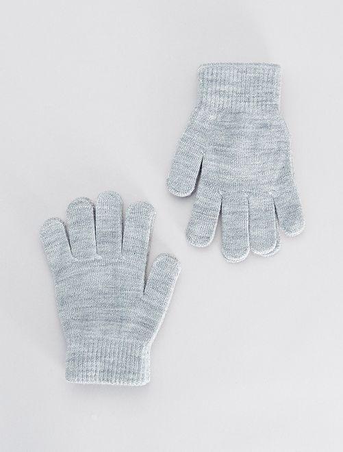 Lot de 2 paires de gants                                                     gris