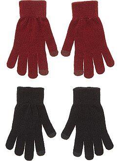 Femme du 34 au 48 Lot de 2 paires de gants tactiles