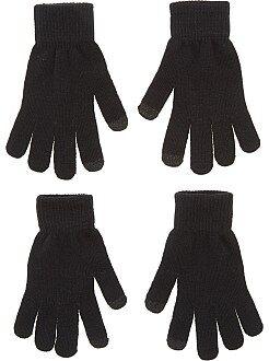 Lot de 2 paires de gants tactiles