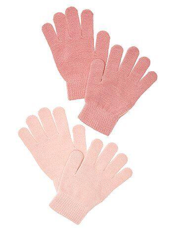 Lot de 2 paires de gants unis - Kiabi