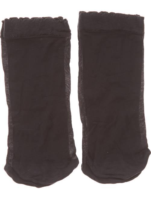 Lot de 2 paires de socquettes                             noir Lingerie du s au xxl