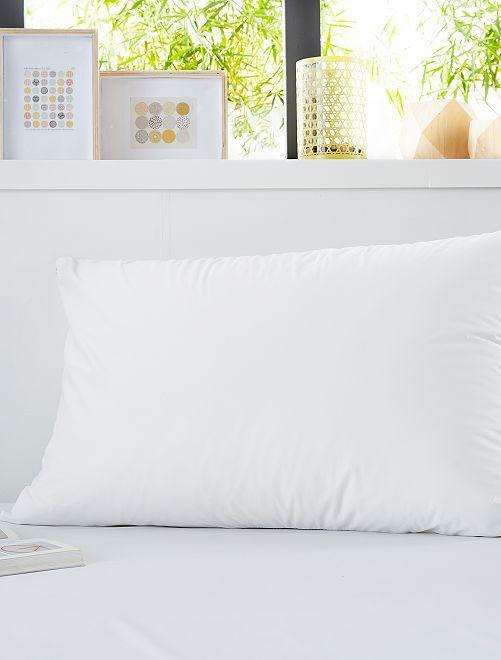 Lot de 2 protèges oreillers                             blanc