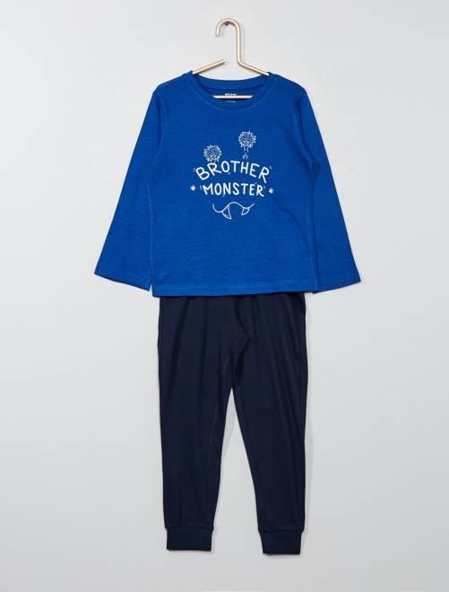5fc17eb6ba927 Lot de 2 pyjamas 2 pièces Garçon - BLEU - Kiabi - 10