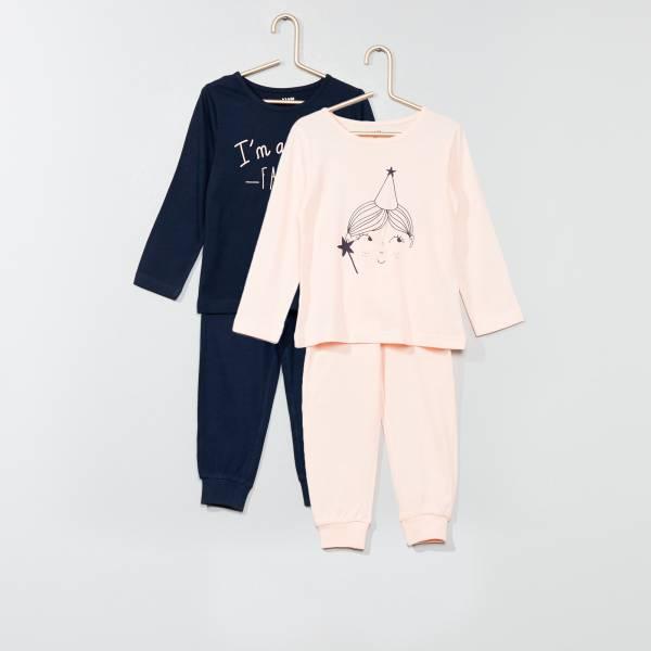 Nouvelles Arrivées nouvelles images de design élégant Lot de 2 pyjamas imprimés