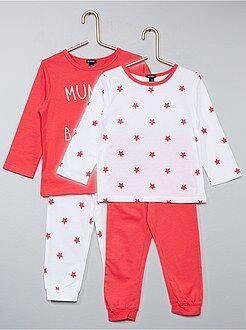 Fille 0-36 mois - Lot de 2 pyjamas imprimés - Kiabi