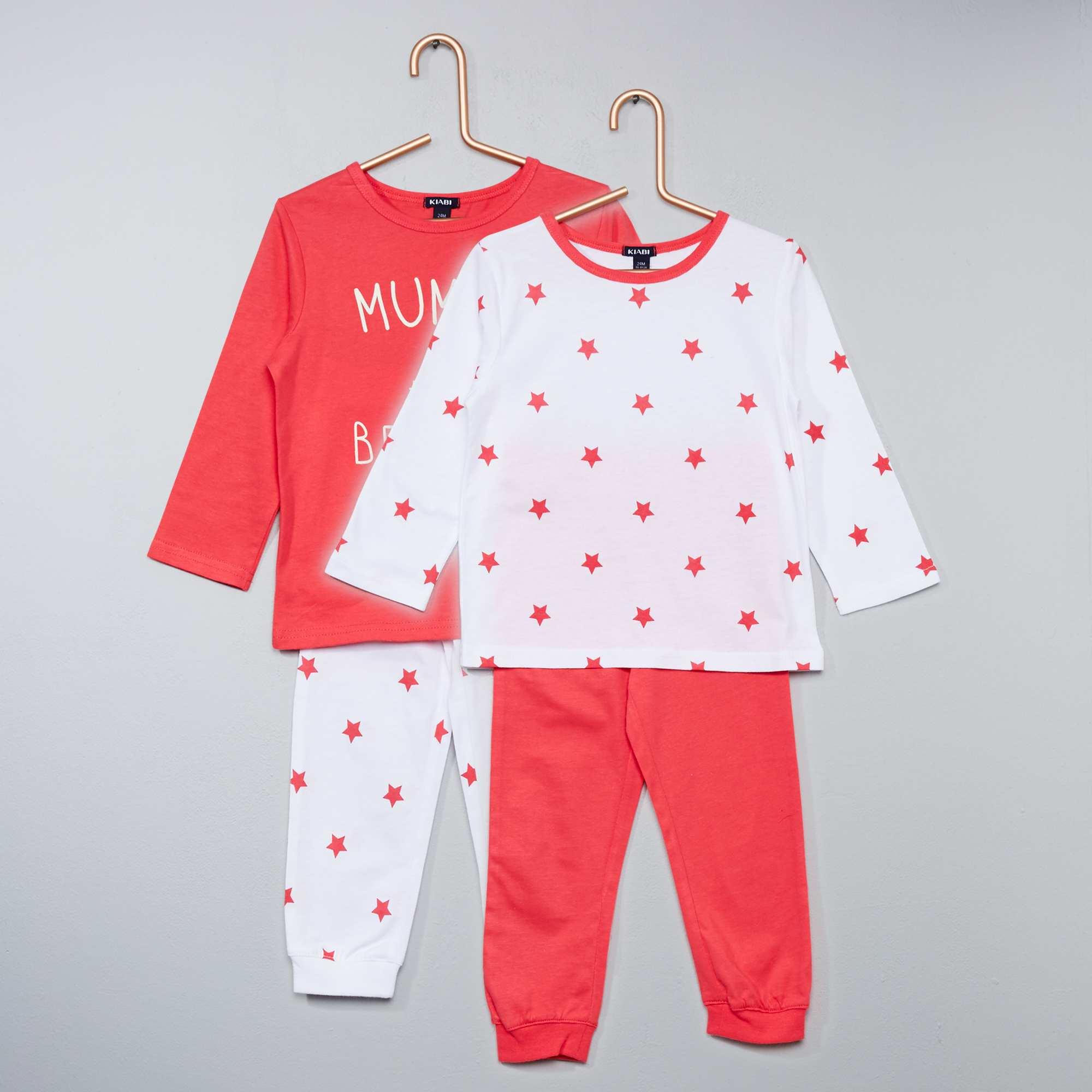 lot de 2 pyjamas imprim s b b gar on kiabi 7 00. Black Bedroom Furniture Sets. Home Design Ideas