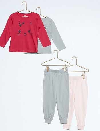 Lot de 2 pyjamas longs en jersey