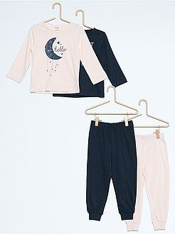 Fille 3-12 ans Lot de 2 pyjamas longs en jersey imprimés