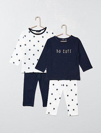 133ae0d956f72 Garçon 0-36 mois - Lot de 2 pyjamas longs  étoiles  - Kiabi