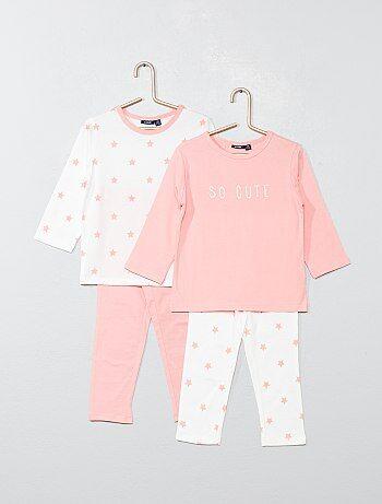 9b88fd8ba6c Lot de 2 pyjamas longs  étoiles  - Kiabi