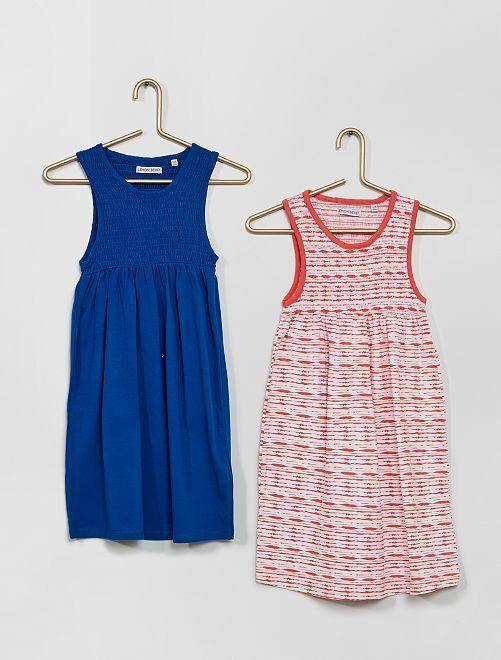 Lot de 2 robes éco-conçues                                         bleu/rouge