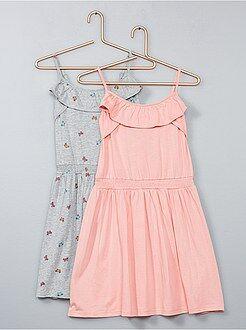 Fille 3-12 ans - Lot de 2 robes légères - Kiabi