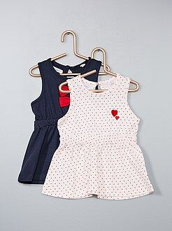 Robe, jupe - Lot de 2 robes pur coton - Kiabi