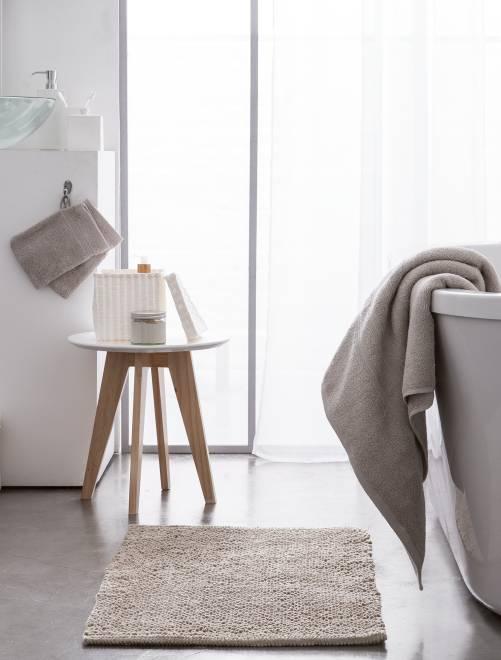 Lot de 2 serviettes 30 x 50 cm 500gr                                                                                                                                                     beige Linge de lit