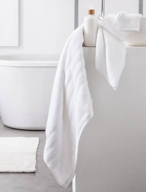 Lot de 2 serviettes 30 x 50 cm 500gr                                                                                                                                                     blanc Linge de lit