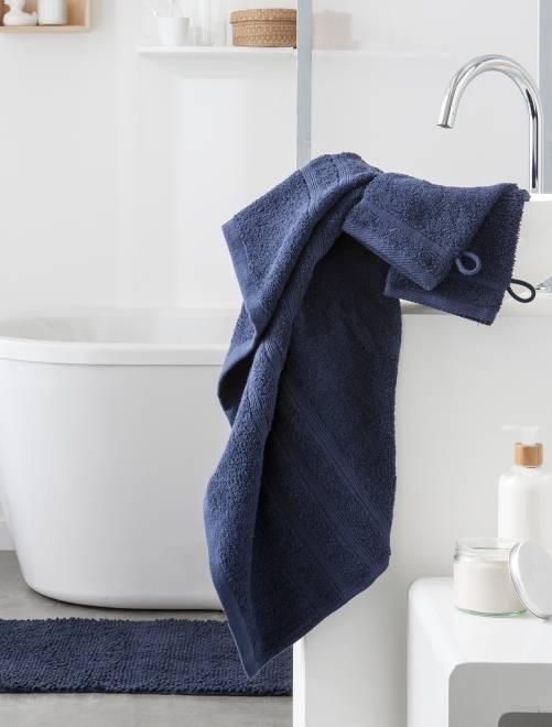 Lot de 2 serviettes 30 x 50 cm 500gr                                                                                                                                                     bleu marine