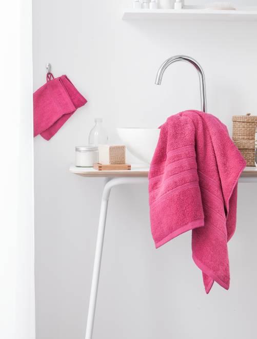 Lot de 2 serviettes 30 x 50 cm 500gr                                                                                                                                         fuchsia Linge de lit