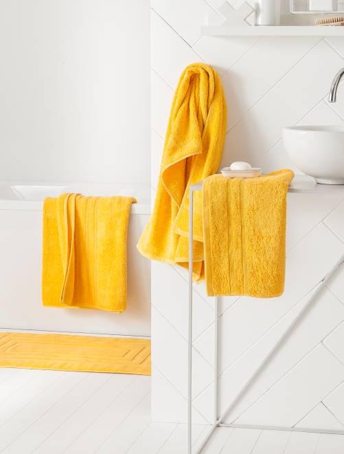 Lot de 2 serviettes 30 x 50 cm 500gr                                                                                                                                                     jaune Linge de lit
