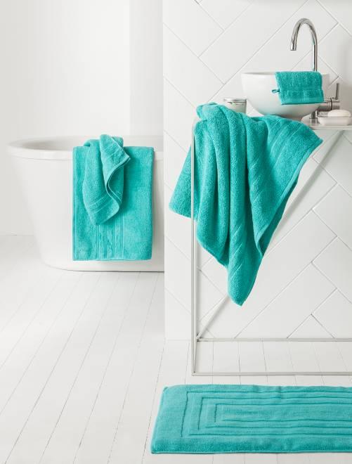 Lot de 2 serviettes 30 x 50 cm 500gr                                                                                                                                         menthe