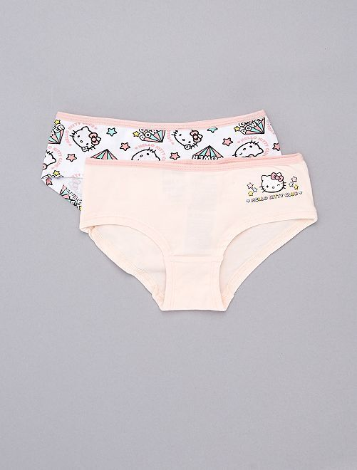 Lot de 2 shorties Hello Kitty                             rose Fille