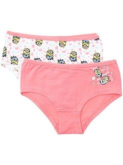Fille 3-12 ans Lot de 2 shorties 'Les Minions'