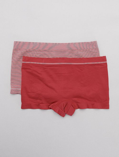 Lot de 2 shorties sans coutures 'Billet Doux'                                                                 rose