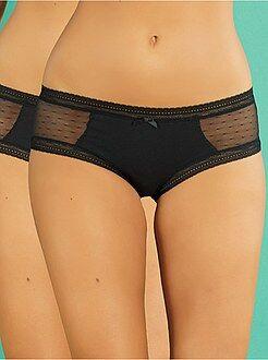 Shorty - Lot de 2 shorties Sexy Coton Dentelle 'DIM'