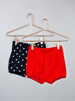 Fille 0-36 mois - Lot de 2 shorts boule - Kiabi