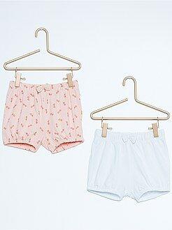 Fille 0-36 mois Lot de 2 shorts de plage en coton